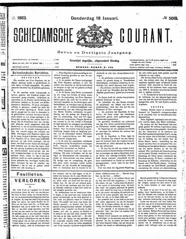 Schiedamsche Courant 1883-01-18