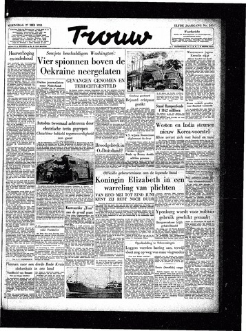 Trouw / De Rotterdammer 1953-05-27