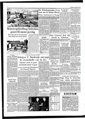 Rotterdamsch Parool / De Schiedammer 1955-02-15