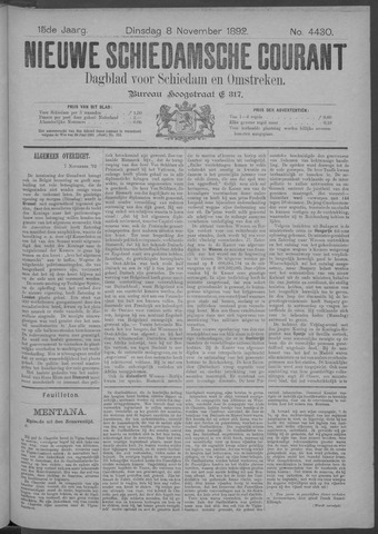 Nieuwe Schiedamsche Courant 1892-11-08