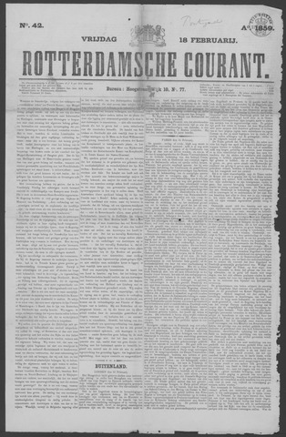 Rotterdamse Courant 1859-02-18