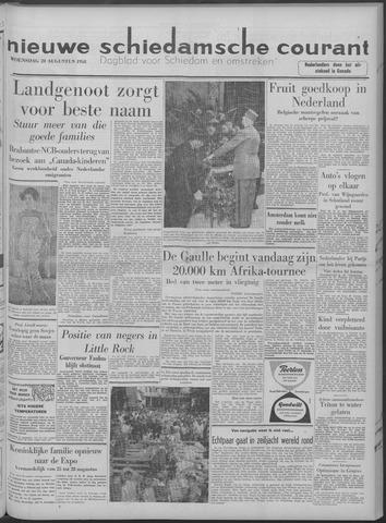 Nieuwe Schiedamsche Courant 1958-08-20
