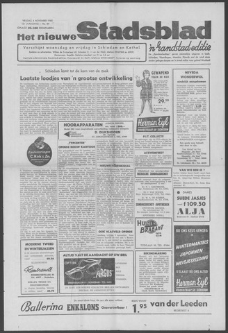 Het Nieuwe Stadsblad 1960-11-04