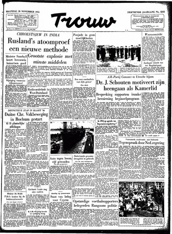 Trouw / De Rotterdammer 1955-11-28