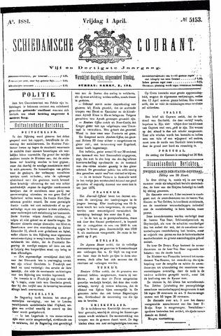 Schiedamsche Courant 1881-04-01