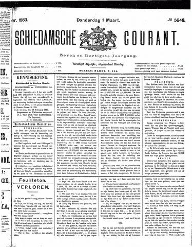Schiedamsche Courant 1883-03-01