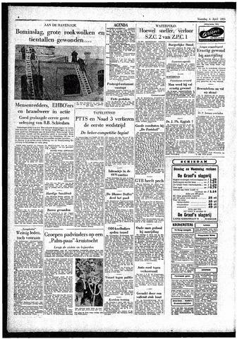 Rotterdamsch Parool / De Schiedammer 1955-04-04
