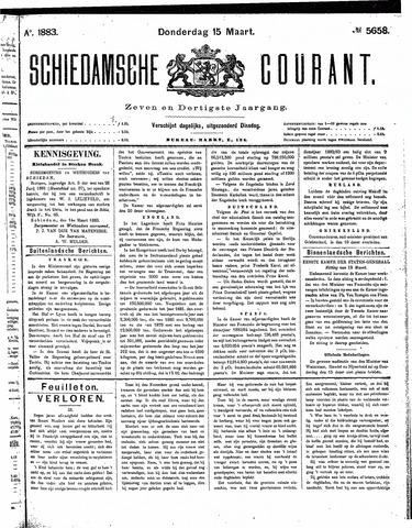 Schiedamsche Courant 1883-03-15