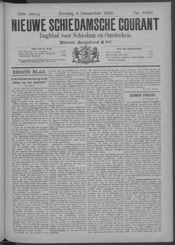Nieuwe Schiedamsche Courant 1892-12-04