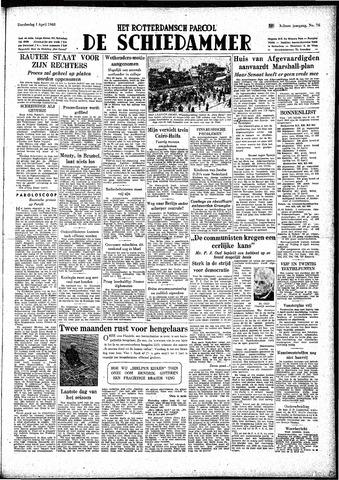Rotterdamsch Parool / De Schiedammer 1948-04-01