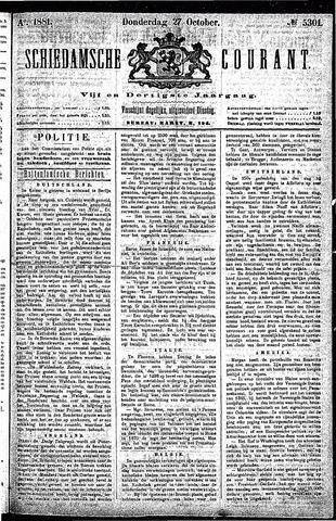 Schiedamsche Courant 1881-10-27