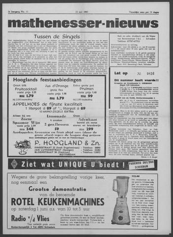 Mathenesser Nieuws 1963-05-22
