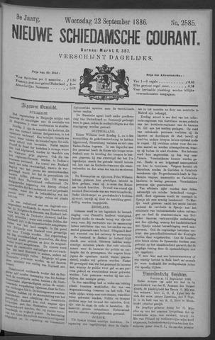 Nieuwe Schiedamsche Courant 1886-09-22