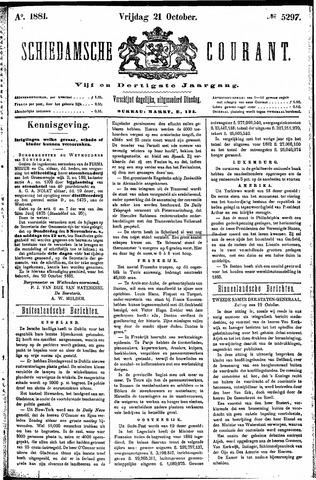 Schiedamsche Courant 1881-10-21