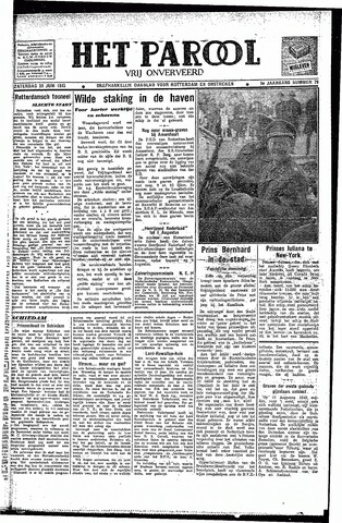 Rotterdamsch Parool / De Schiedammer 1945-06-30
