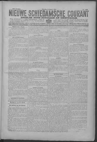 Nieuwe Schiedamsche Courant 1925-01-19