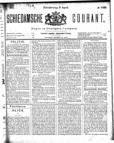Schiedamsche Courant 1885-04-09