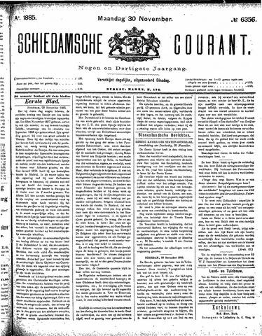 Schiedamsche Courant 1885-11-30