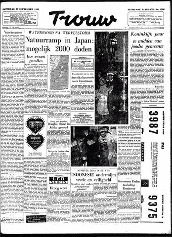 Trouw / De Rotterdammer 1958-09-27