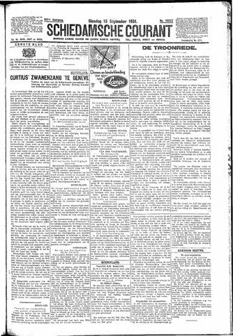 Schiedamsche Courant 1931-09-15