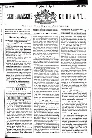 Schiedamsche Courant 1881-04-08