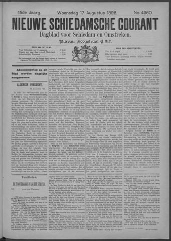 Nieuwe Schiedamsche Courant 1892-08-17