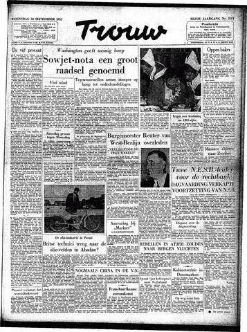 Trouw / De Rotterdammer 1953-09-30