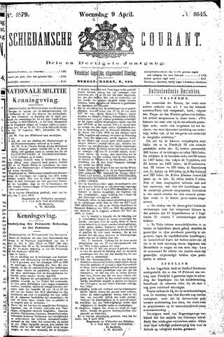 Schiedamsche Courant 1879-04-09