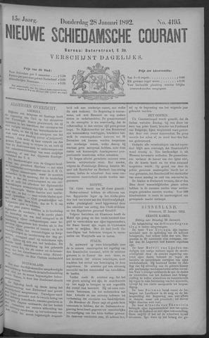 Nieuwe Schiedamsche Courant 1892-01-28