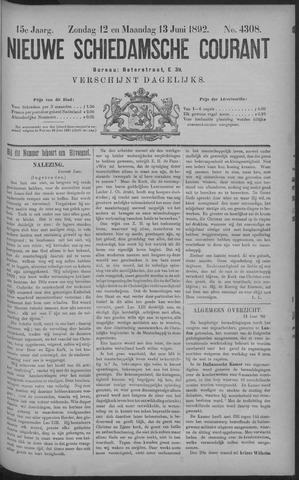 Nieuwe Schiedamsche Courant 1892-06-13