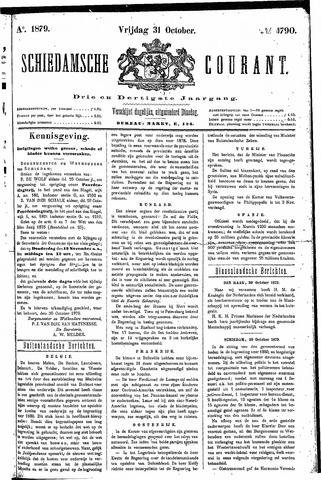 Schiedamsche Courant 1879-10-31