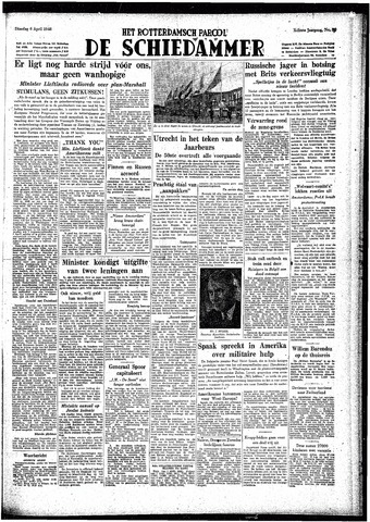 Rotterdamsch Parool / De Schiedammer 1948-04-06