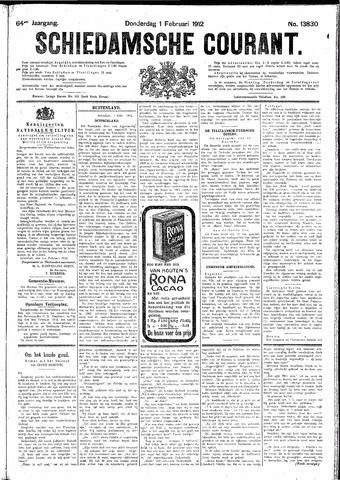 Schiedamsche Courant 1912-02-01
