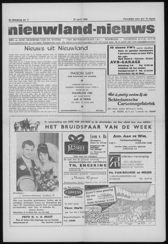 Nieuwland Nieuws 1965-04-22