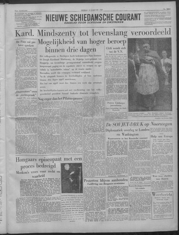 Nieuwe Schiedamsche Courant 1949-02-08