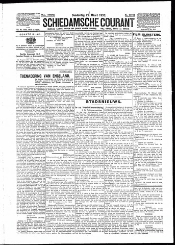 Schiedamsche Courant 1933-03-23