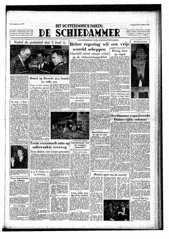 Rotterdamsch Parool / De Schiedammer 1949-11-18