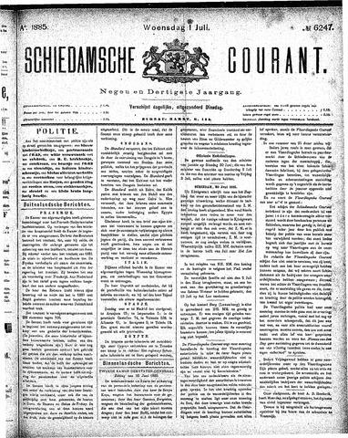 Schiedamsche Courant 1885-07-01