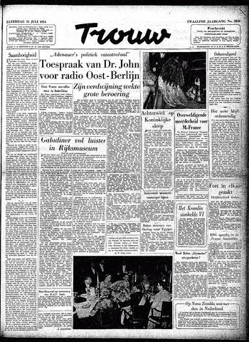 Trouw / De Rotterdammer 1954-07-24