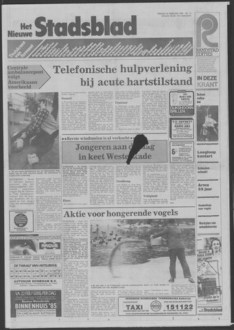 Het Nieuwe Stadsblad 1985-02-22