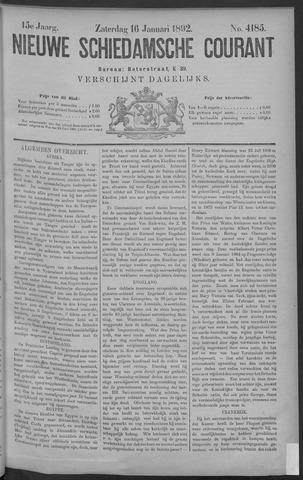 Nieuwe Schiedamsche Courant 1892-01-16