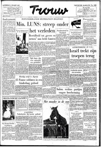 Trouw / De Rotterdammer 1957-03-02
