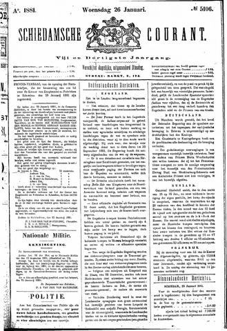 Schiedamsche Courant 1881-01-26
