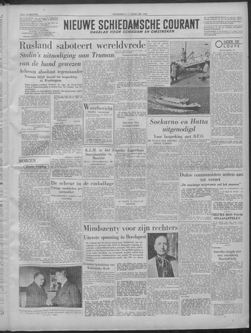 Nieuwe Schiedamsche Courant 1949-02-03