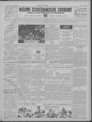 Nieuwe Schiedamsche Courant | 24 juni 1938 | pagina 1