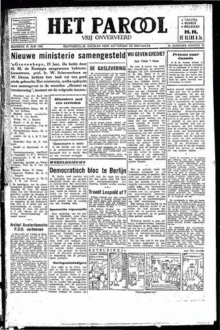 Rotterdamsch Parool / De Schiedammer 1945-06-25