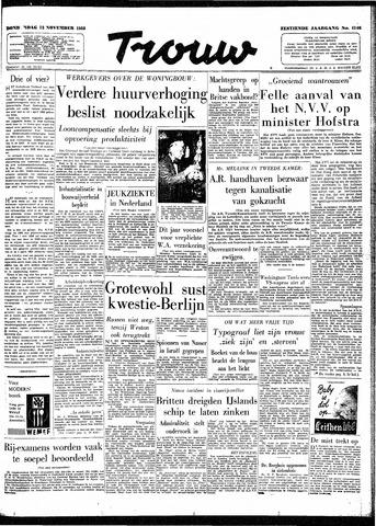 Trouw / De Rotterdammer 1958-11-13