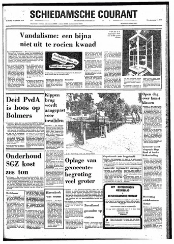 Rotterdamsch Nieuwsblad / Schiedamsche Courant / Rotterdams Dagblad / Waterweg / Algemeen Dagblad 1974-09-19