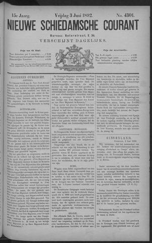 Nieuwe Schiedamsche Courant 1892-06-03