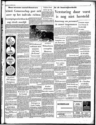 Rotterdamsch Parool / De Schiedammer 1963-04-09